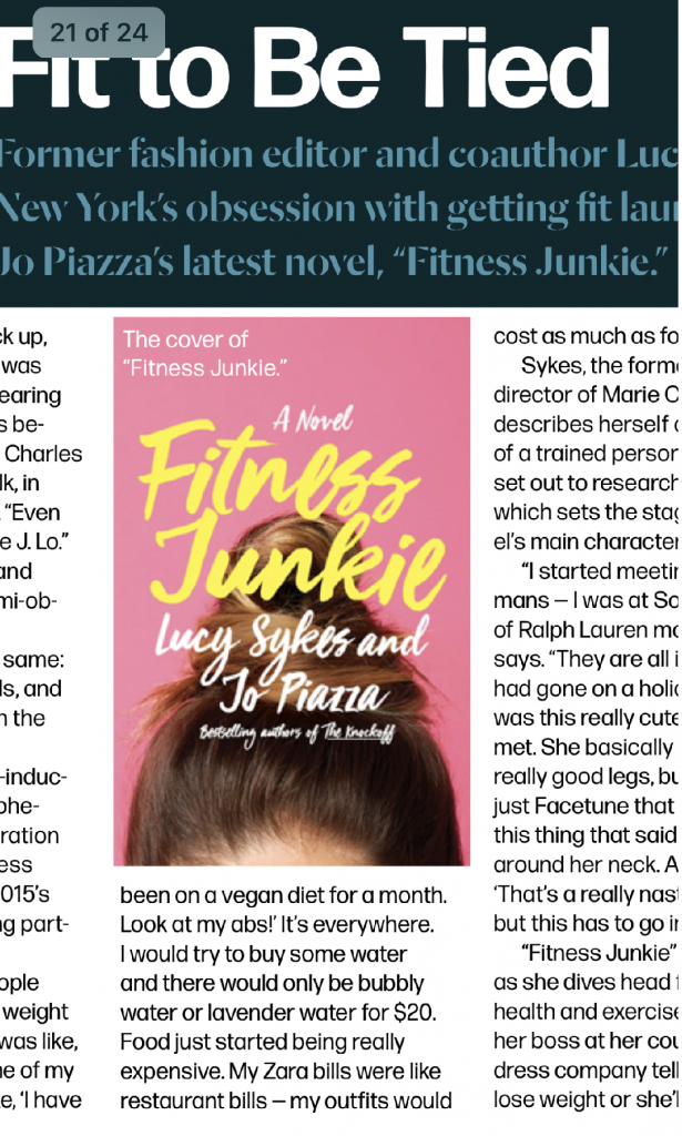 fitness junkie book
